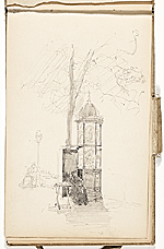 [Hermann Dudley Murphy sketchbook of travels through Europe sketchbook page 3]
