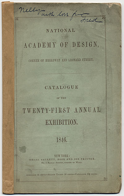 [National Academy of Design Twenty-First Annual Exhibition]