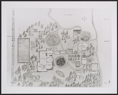 [Map of the Thayer family compound in Dublin, New Hampshire]