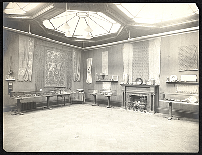 [Installation view of the Fifth annual arts and crafts exhibition at the National Arts Club]