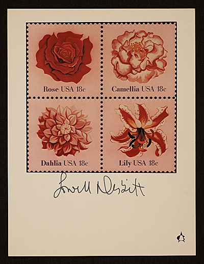United States Postal Service Stamp Poster.  Flowers