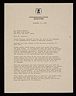 Dennis J. Holm, Washington, D.C. letter to Lowell Nesbitt, New York, N.Y.