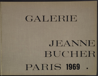 Exhibition at Galerie Jeanne Bucher Scrapbook