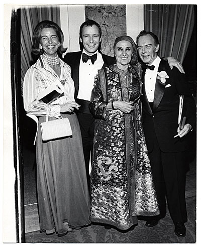 [Louise Nevelson and others at formal gathering]