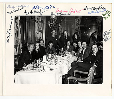 Louise Nevelson at a luncheon