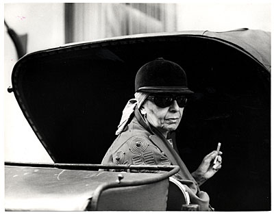 Louise Nevelson in a buggy