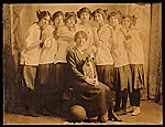 Louise Nevelson with her basketball teammates
