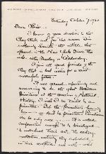 Max Weber letter to Louise Nevelson