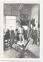 Kenneth Noland in David Smith's studio