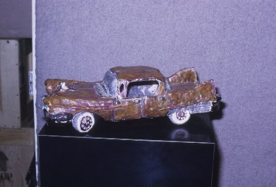 Margaret Dodd sculpture of a 1956 Cadillac