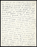 [Howard Finster letter to Barbara Shissler Nosanow ]