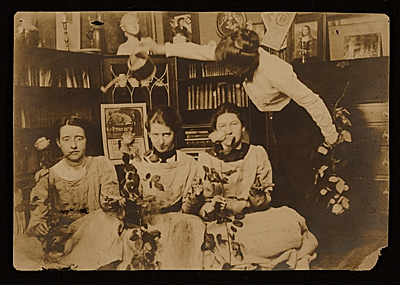 [Elizabeth Shippen Green, Violet Oakley, Jessie Willcox Smith and Henrietta Cozens in their Chestnut Street studio]