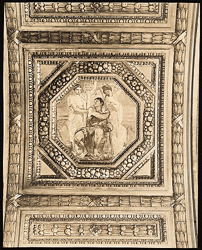 [Violet Oakley ceiling panel Hercules Choosing Between Vice and Virtue]