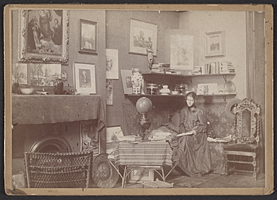 Violet Oakley in her studio at 1523 Chestnut Street