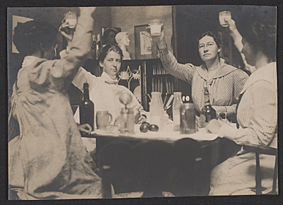 [Violet Oakley, Jessie Willcox Smith, Elizabeth Shippen Green, and Henrietta Cozens]