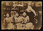 Elizabeth Shippen Green, Violet Oakley, Jessie Willcox Smith and Henrietta Cozens in their Chestnut Street studio