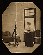 Violet Oakley at work