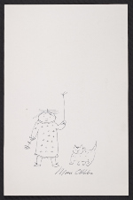 Miné Okubo sketch of a girl and a cat