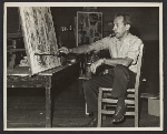 John Opper in his studio