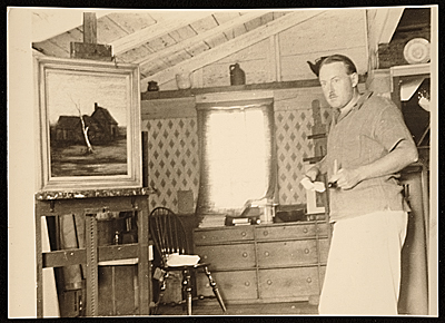 Elliot Orr in his Waquoit studio