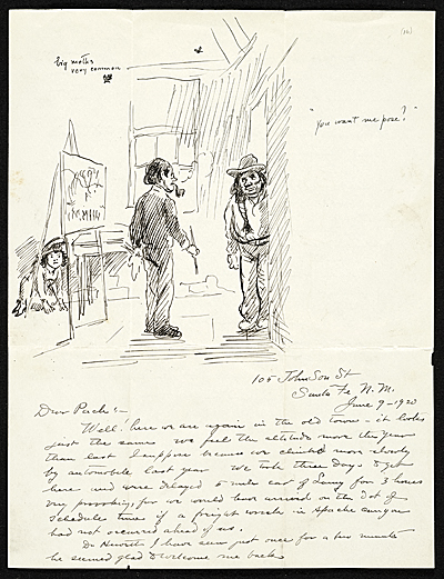 John Sloan letter to Walter Pach
