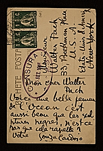 [Amadeo de Souza-Cardoso, Portugal postcard to Walter Pach, New York, N.Y. 1]