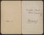 [Walter Pach notebook recording sales at the New York Armory Show pages 1]