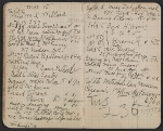 [Walter Pach notebook recording sales at the New York Armory Show pages 11]