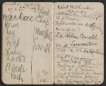 [Walter Pach notebook recording sales at the New York Armory Show pages 15]