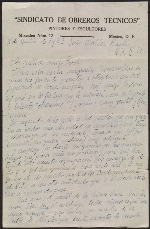 Diego Rivera letter to Walter Pach
