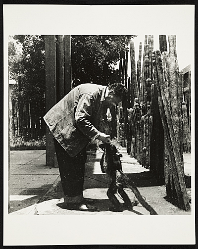 [Diego Rivera with a spider monkey]