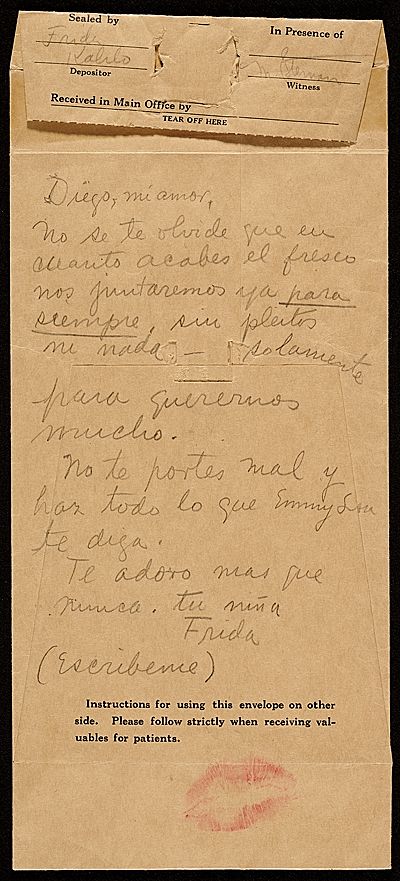 [Frida Kahlo letter to Diego Rivera]