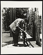 [Diego Rivera with a spider monkey ]