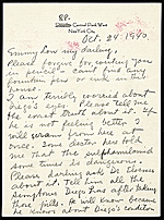 [Frida Kahlo, New York, N.Y. letter to Emmy Lou Packard, San Francisco, Calif. page 1]