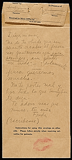 [Frida Kahlo letter to Diego Rivera 1]