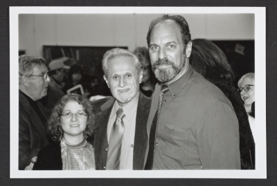 [Anthony Palumbo and others at an exhibition reception]