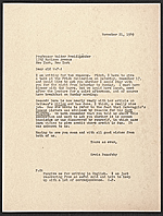 [Erwin Panofsky letter to Walter F. Friedlaender, New York, N.Y. ]