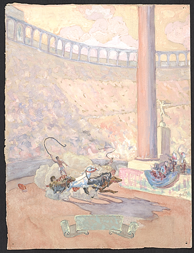 [Chariot race from Ben-Hur]