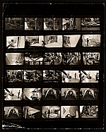 Contact sheet of images taken at Dean Fleming and Andrew Magar exhibition installation