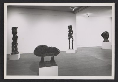 [Installation view of an Eduardo Paolozzi exhibition at the Betty Parsons Gallery]