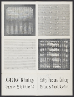 Agnes Martin Paintings exhibition poster