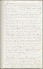 Diary entry, which recounts the news of President Abraham Lincoln's assassination and funeral procession