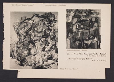 Magazine clipping from Art Digest featuring Philip Pearlsteins painting