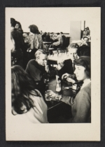 [Andy Warhol and Philip Pearlstein in the cafeteria at the Carnegie Institute of Technology ]