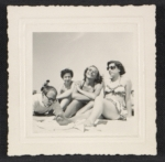 Andy Warhol, Dorothy Cantor, Corinne Kessler and Leah Cantor on Fire Island Beach, ca. 1949.