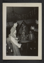 Party in studio of arts building at the Carnegie Institute of Technology, ca. 1948.