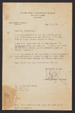 James Johnson Sweeney, New York, N.Y. letter to Philip Pearlstein