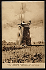Old Hayground Windmill.  Watermill L.I.  Now occupied as a studio of Miss Agnes Pelton