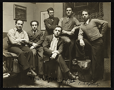 [Moses Soyer and fellow artists]