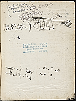 [James Penney's New York Sketchbook cover verso 2]
